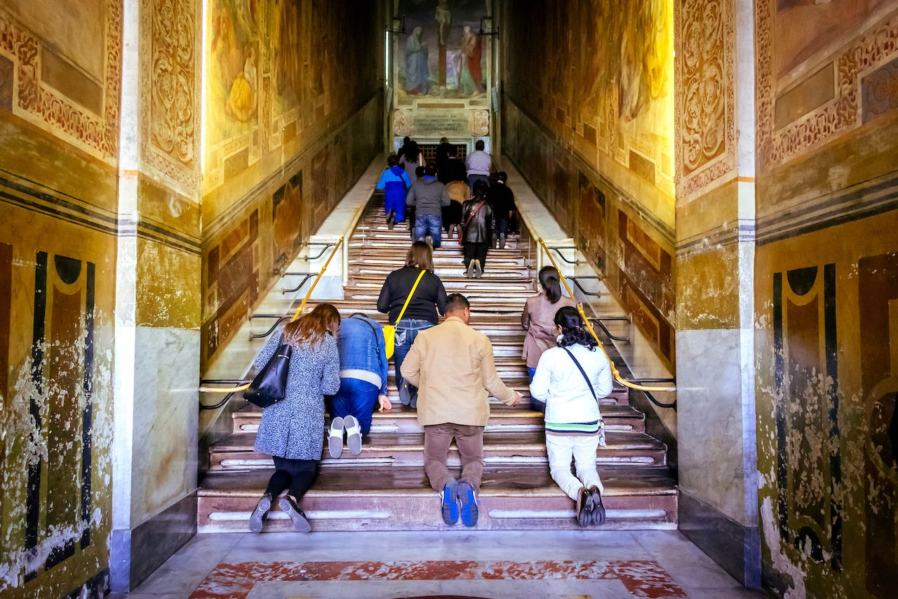 Roman Holy Stairs bared for pilgrims