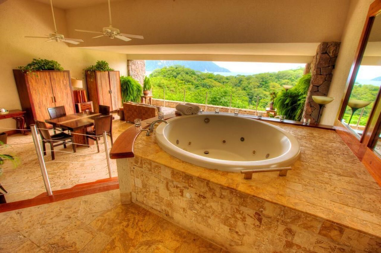 Hot tub at a St Lucia resort