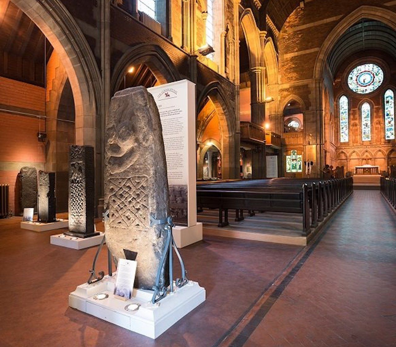 Inside of the Govan Old Parish Church, Scotland