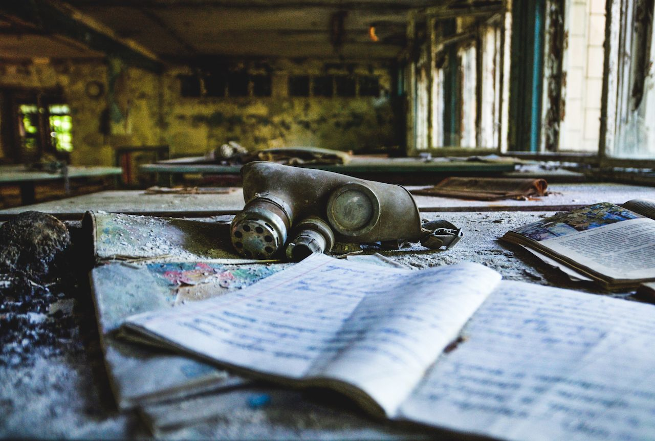 Items found inside the abandoned buildings in Pripyat