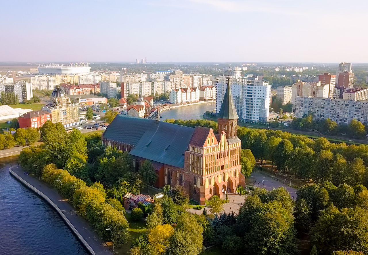 Kaliningrad Cathedral on the island of Kant, Russia, Kaliningrad
