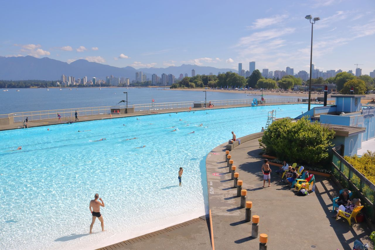 Kitsilano outdoor swimming pool in Vancouver