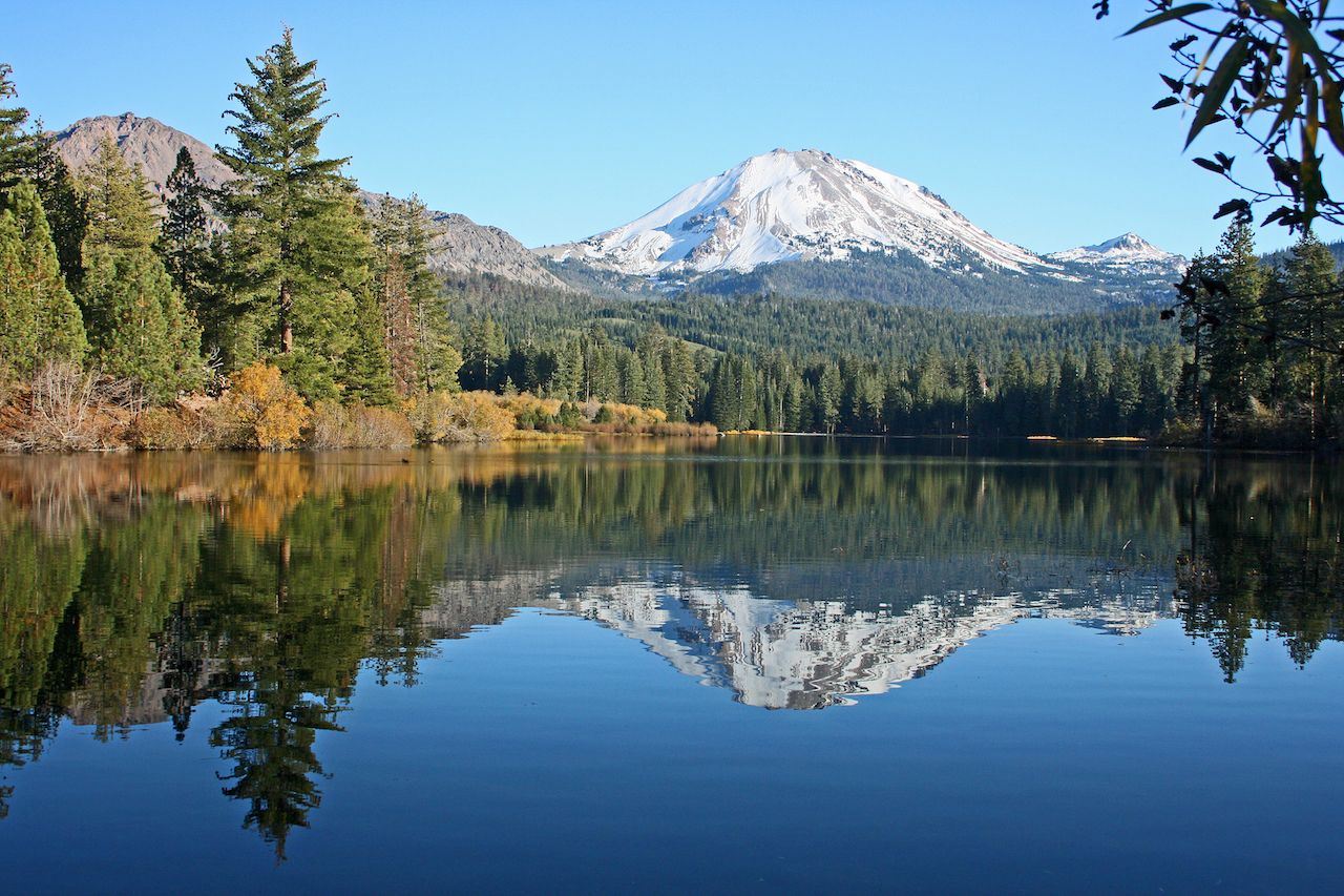 Lake Manzanita with Peak Lassen Reflection