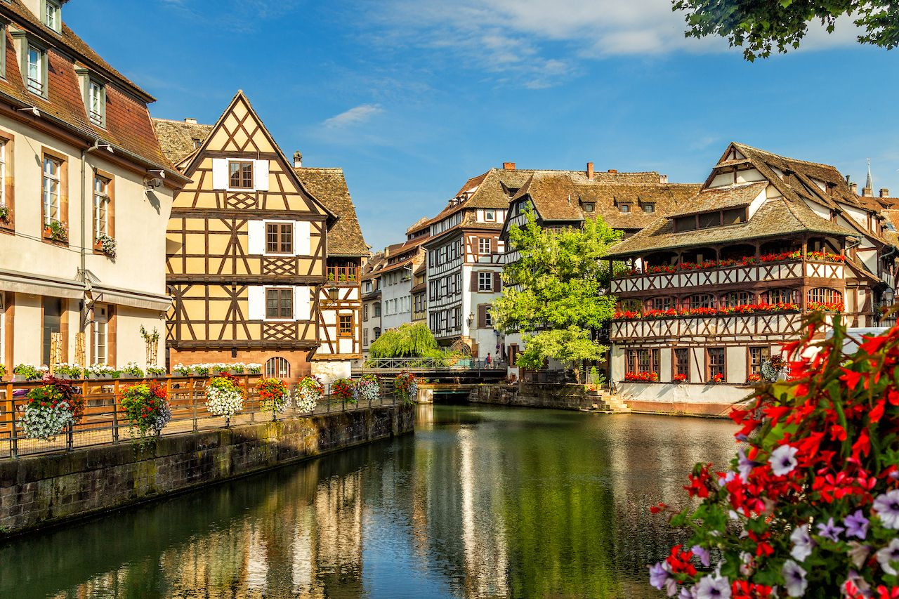Little France, a historic quarter of the city of Strasbourg in eastern France