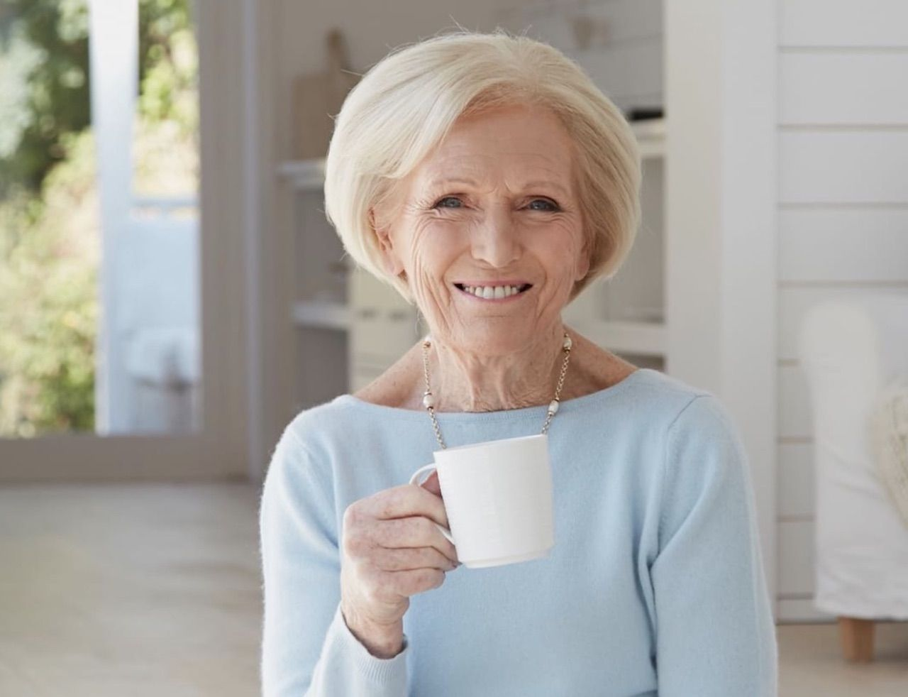 Mary Berry hosting an afternoon tea