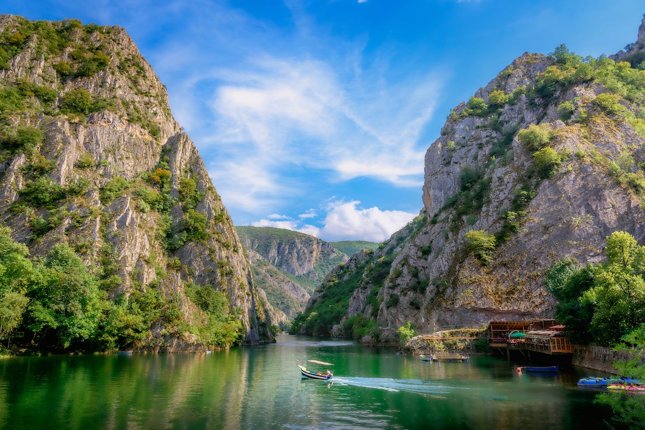 Matka canyon in Macedonia near Skopje
