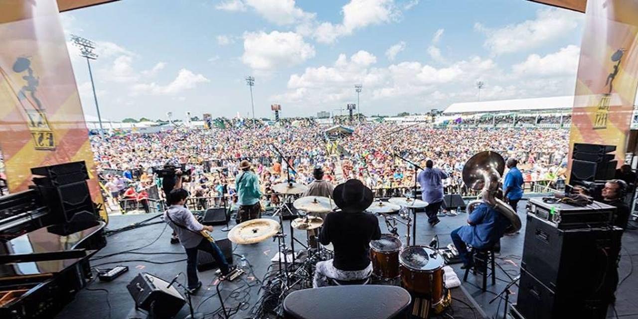 New Orleans Jazz Fest stage