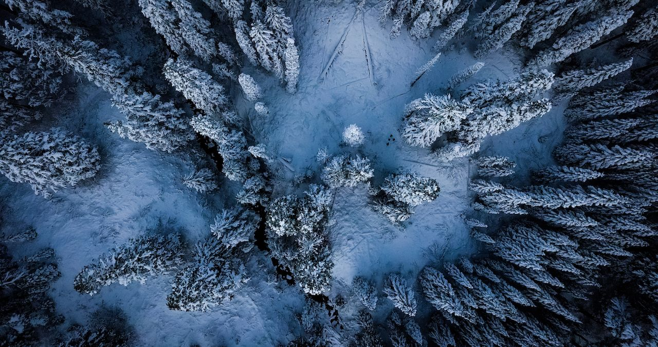 North Cascades drone shot