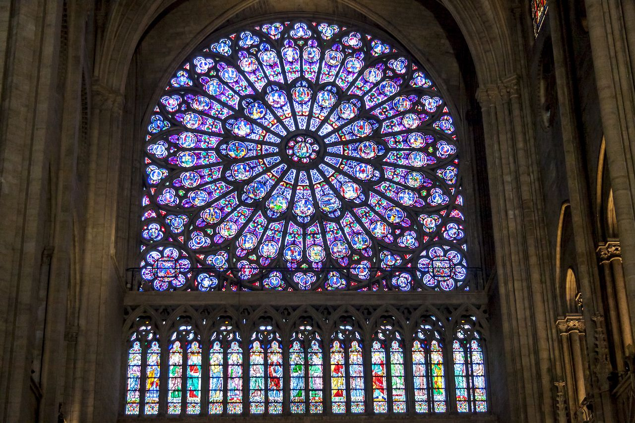 Notre Dame de Paris stained glass
