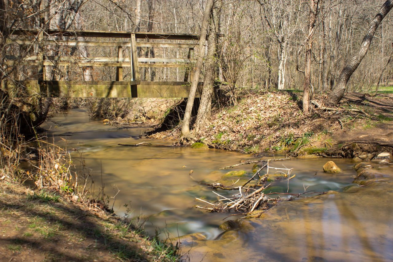 Panther Creek at Panther Creek State Park in Morristown, Tennessee