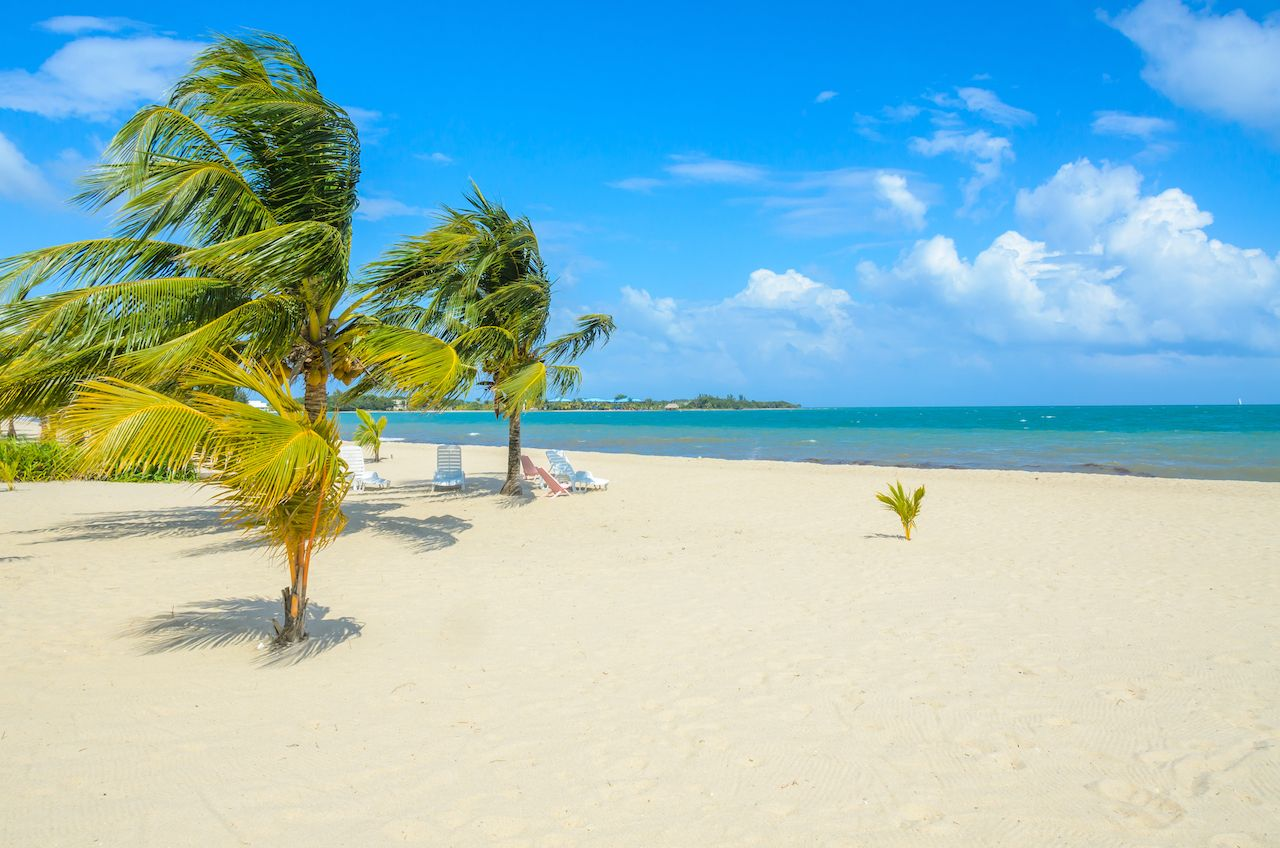 Paradise beach in Placencia, tropical coast of Belize