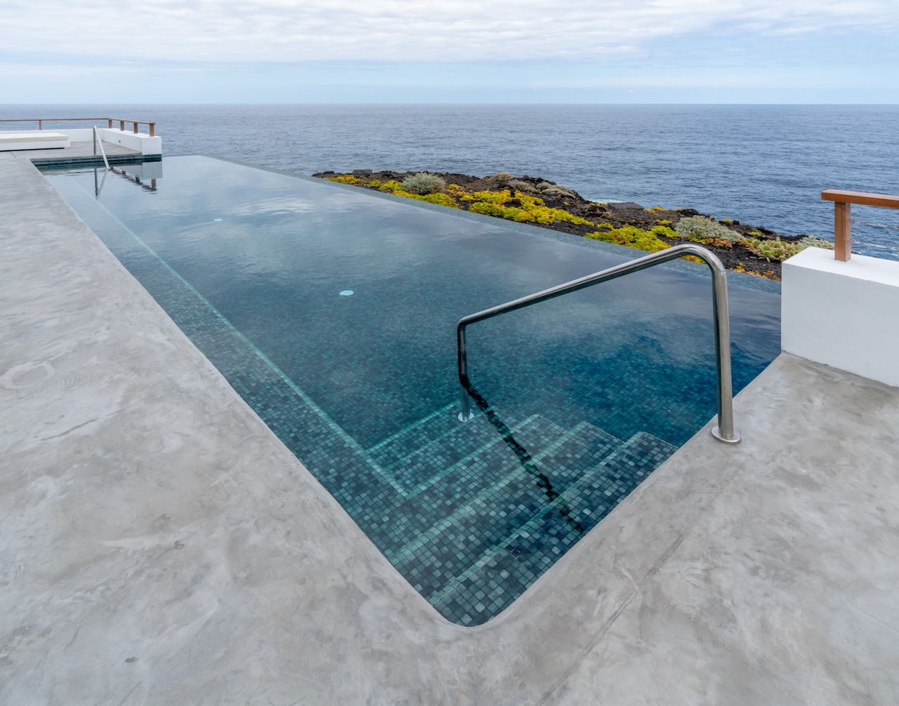 Pool at the luxury Canary Islands lighthouse hotel
