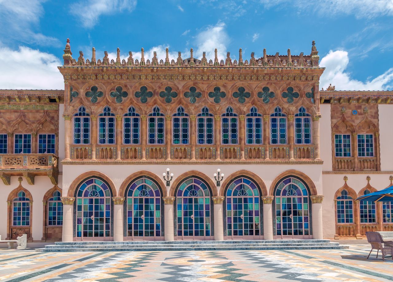 Ringling's mansion Ca d'Zan modeled after the Doges Palace in Venice