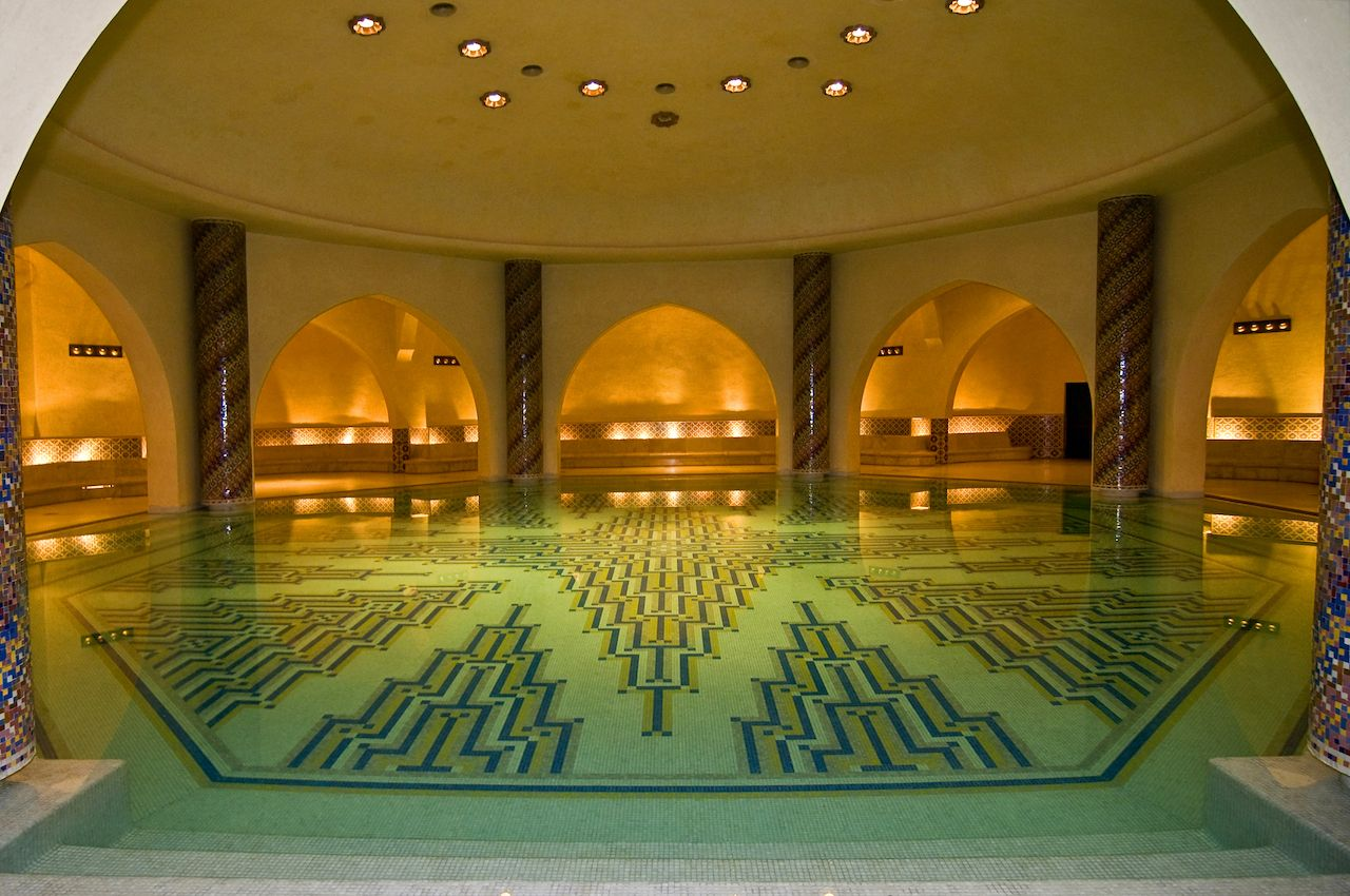 Ritual bath in the Mosque of Hassan II in Casablanca, Morocco