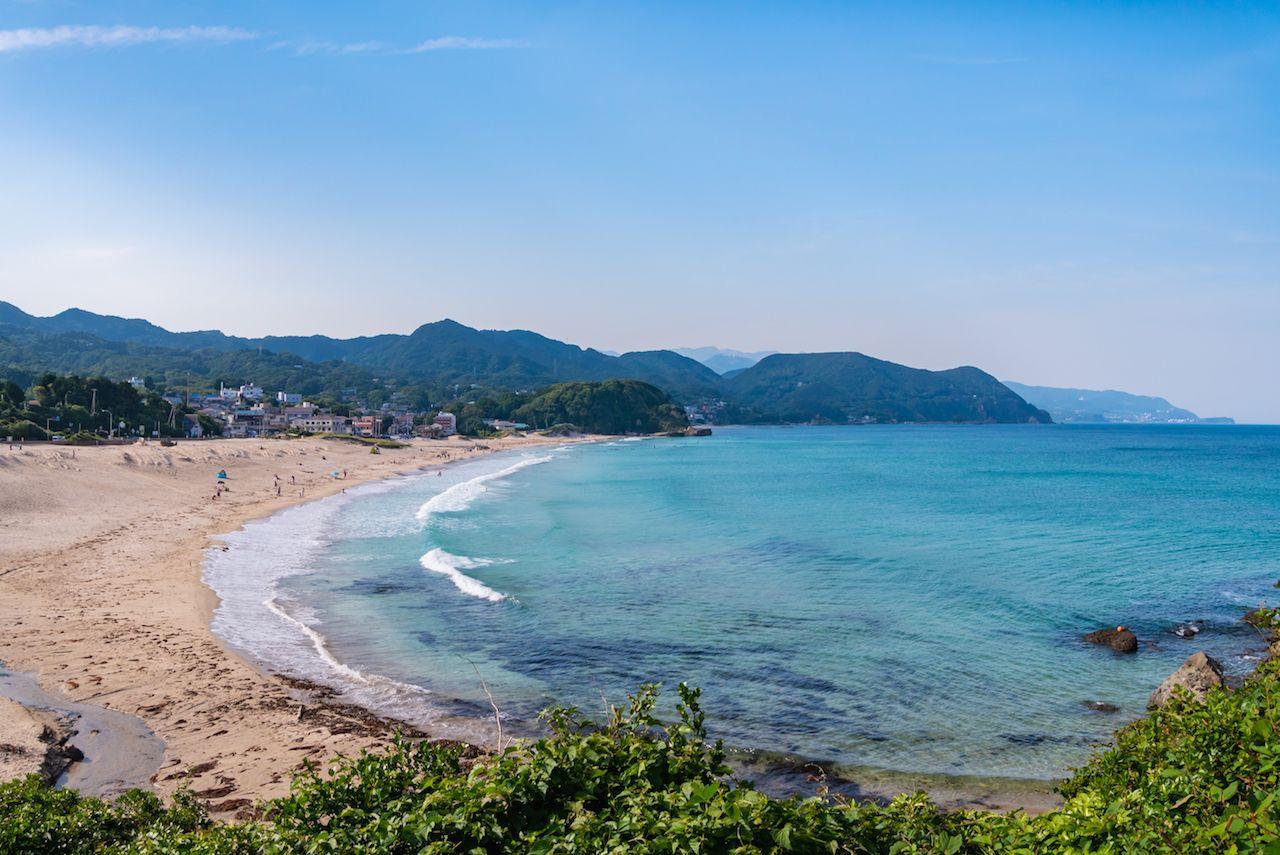 Shirahama Beach on the Izu Peninsula in Shimoda City, Shizuoka Prefecture, Japan