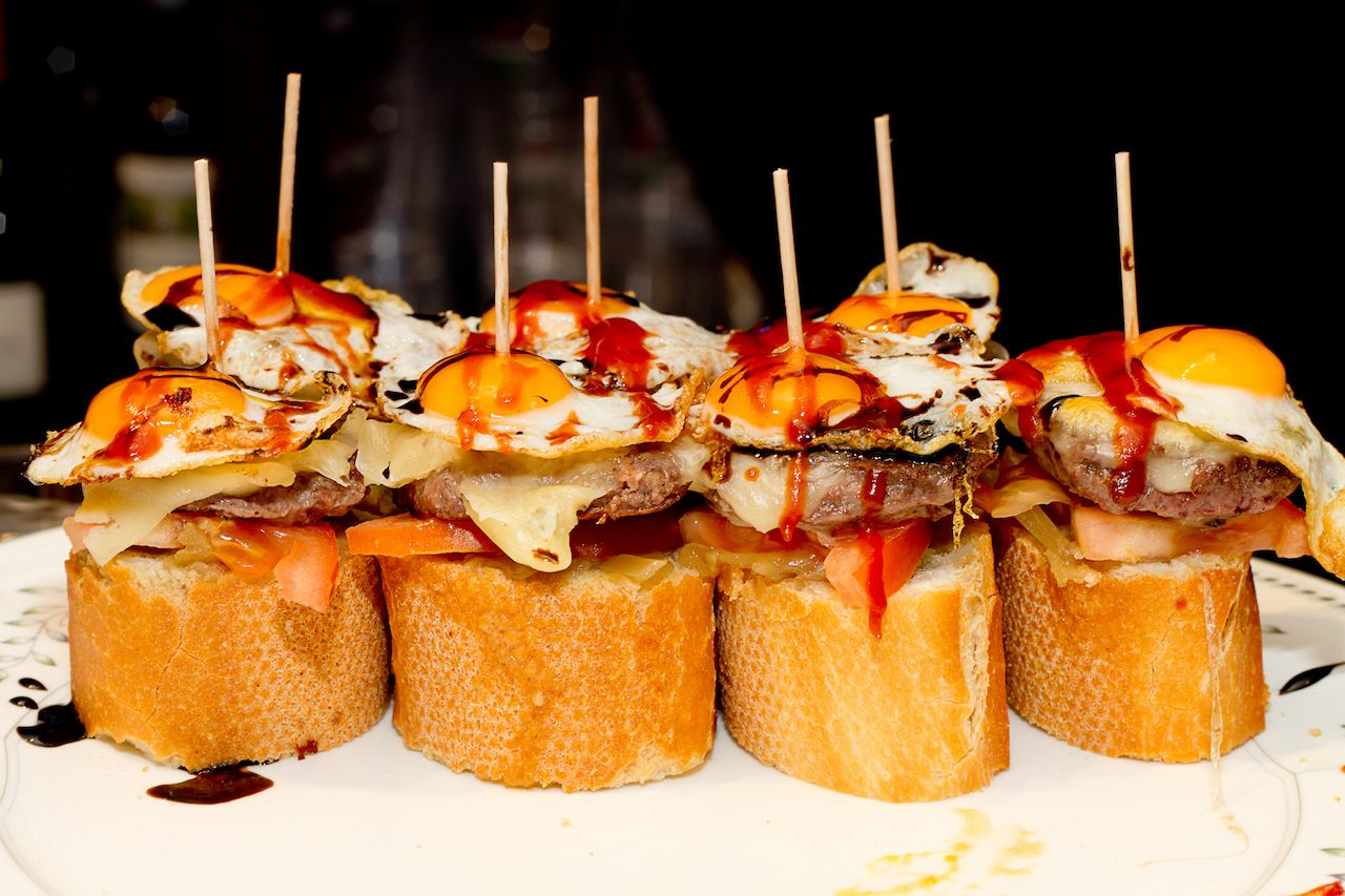 Spanish tapas called pintxos of the Basque country