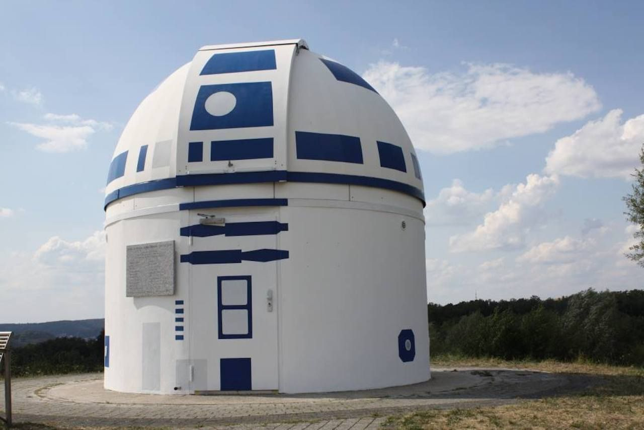 Star Wars R2D2 observatory close up