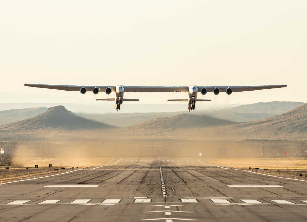 The world's largest airplane just took flight