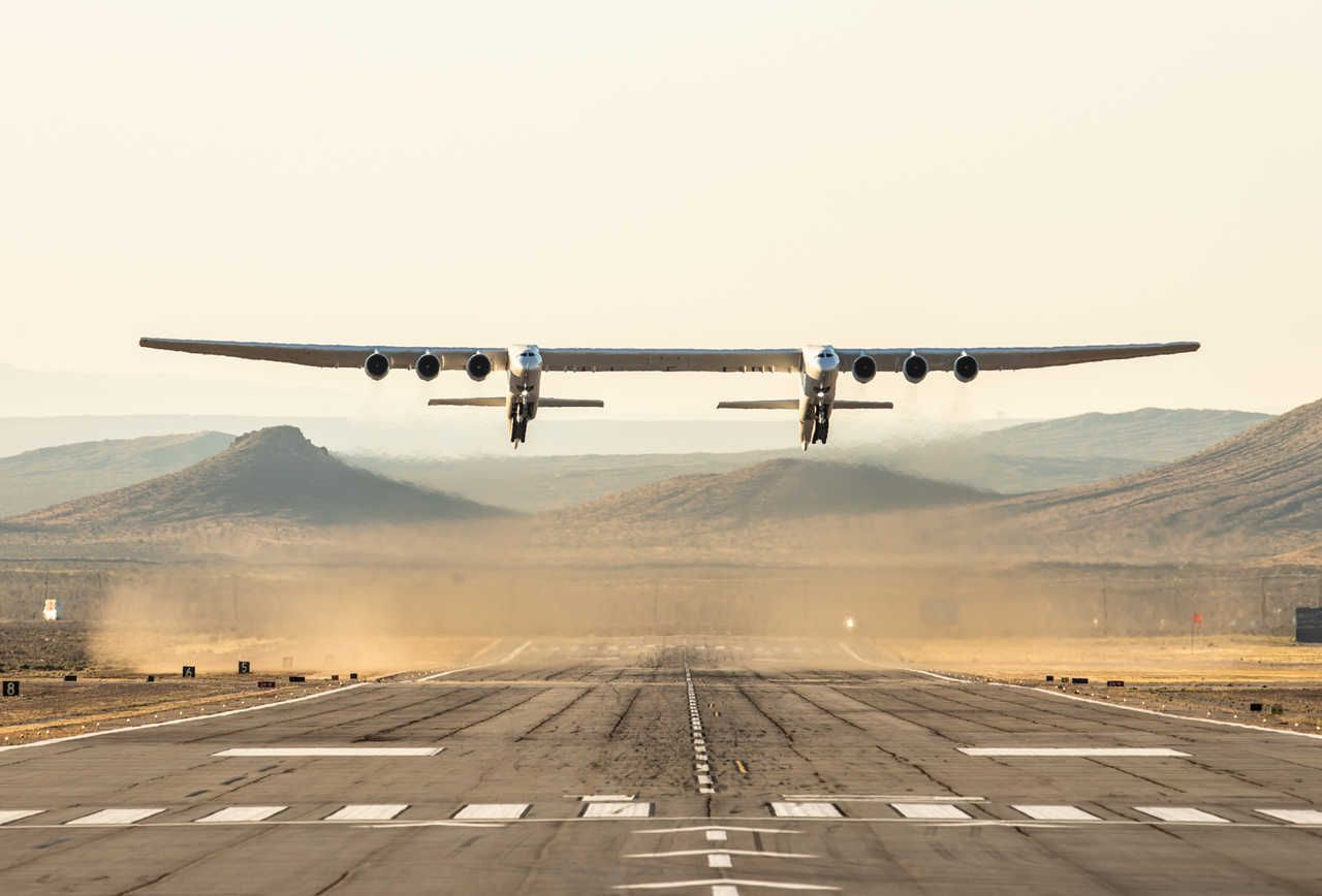 World's largest airplane takes flies