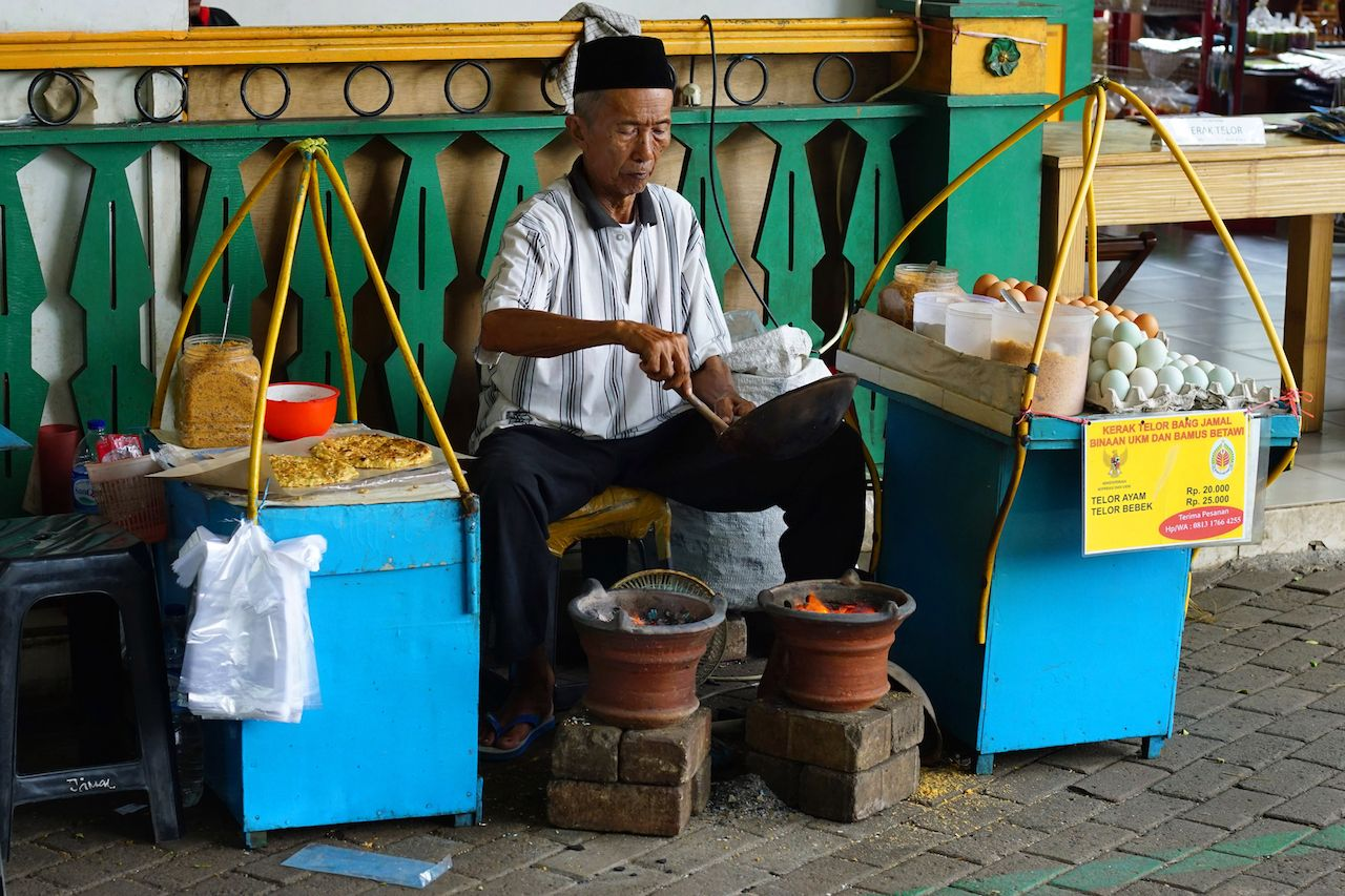 Street-food vendor in Jakarta