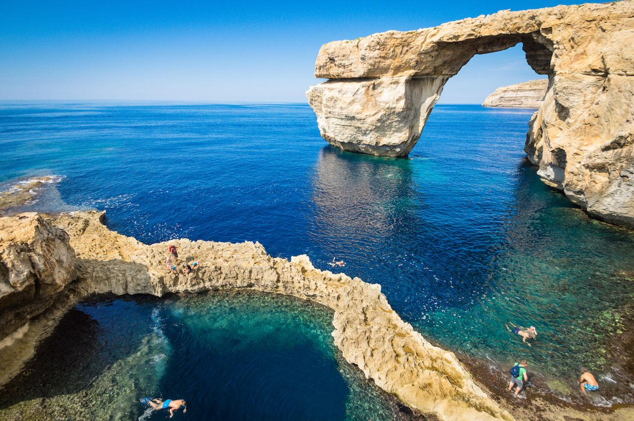The Azure Window in Gozo island