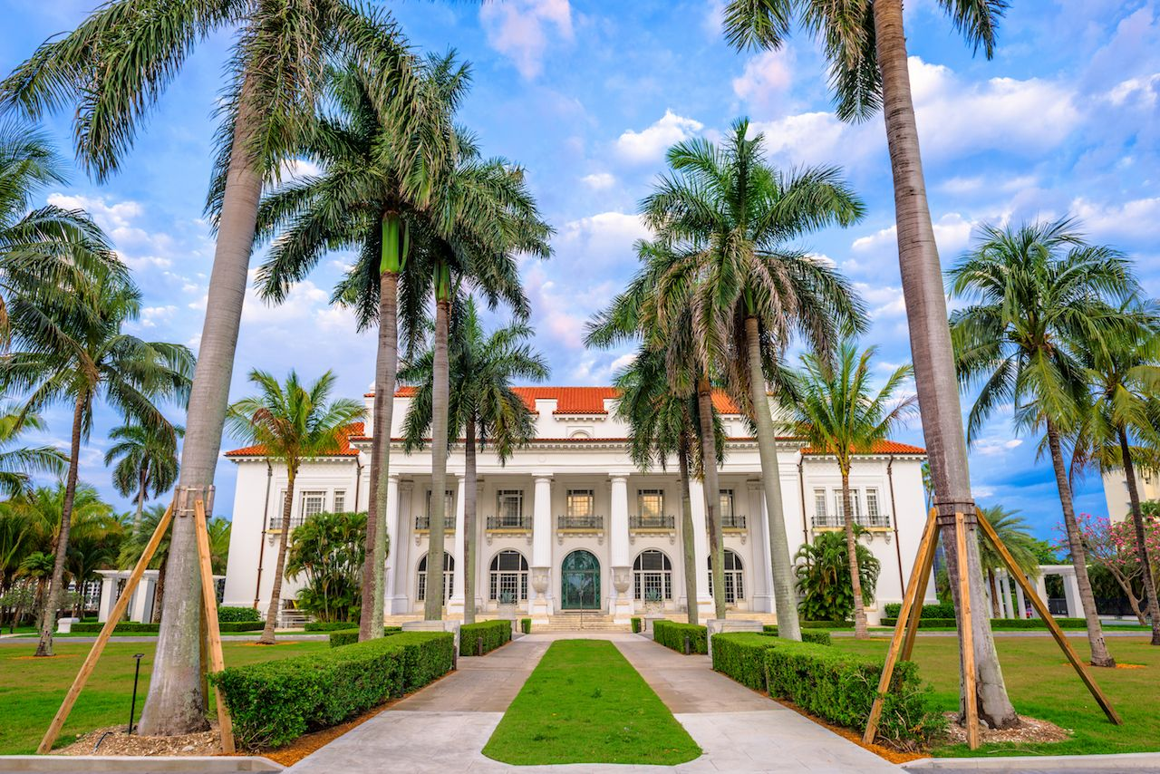 The Flagler Museum exterior and grounds