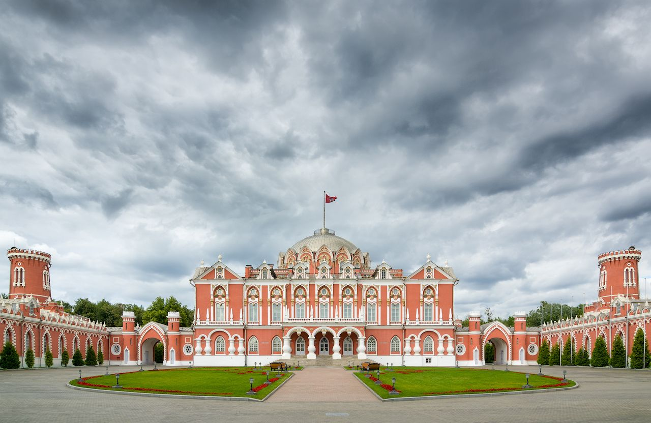 The Petroff Palace is a gem of Russian architecture, located in the modern downtown of Moscow