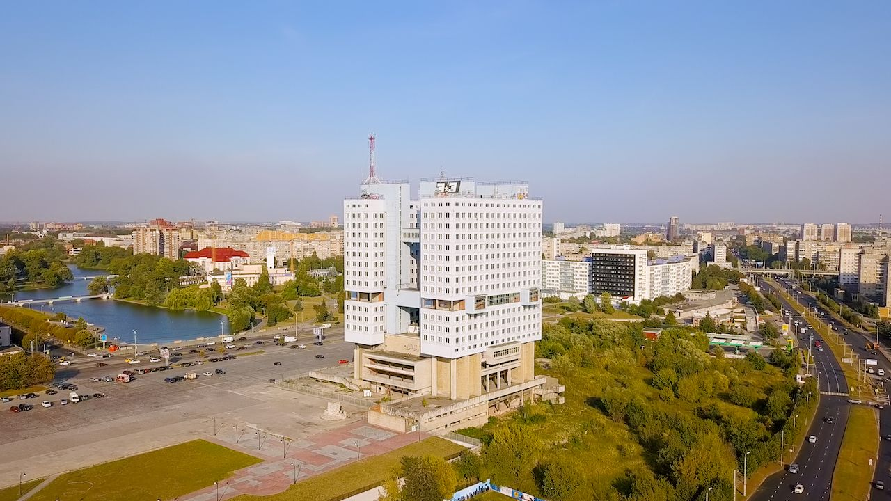 The central part of the city of Kaliningrad