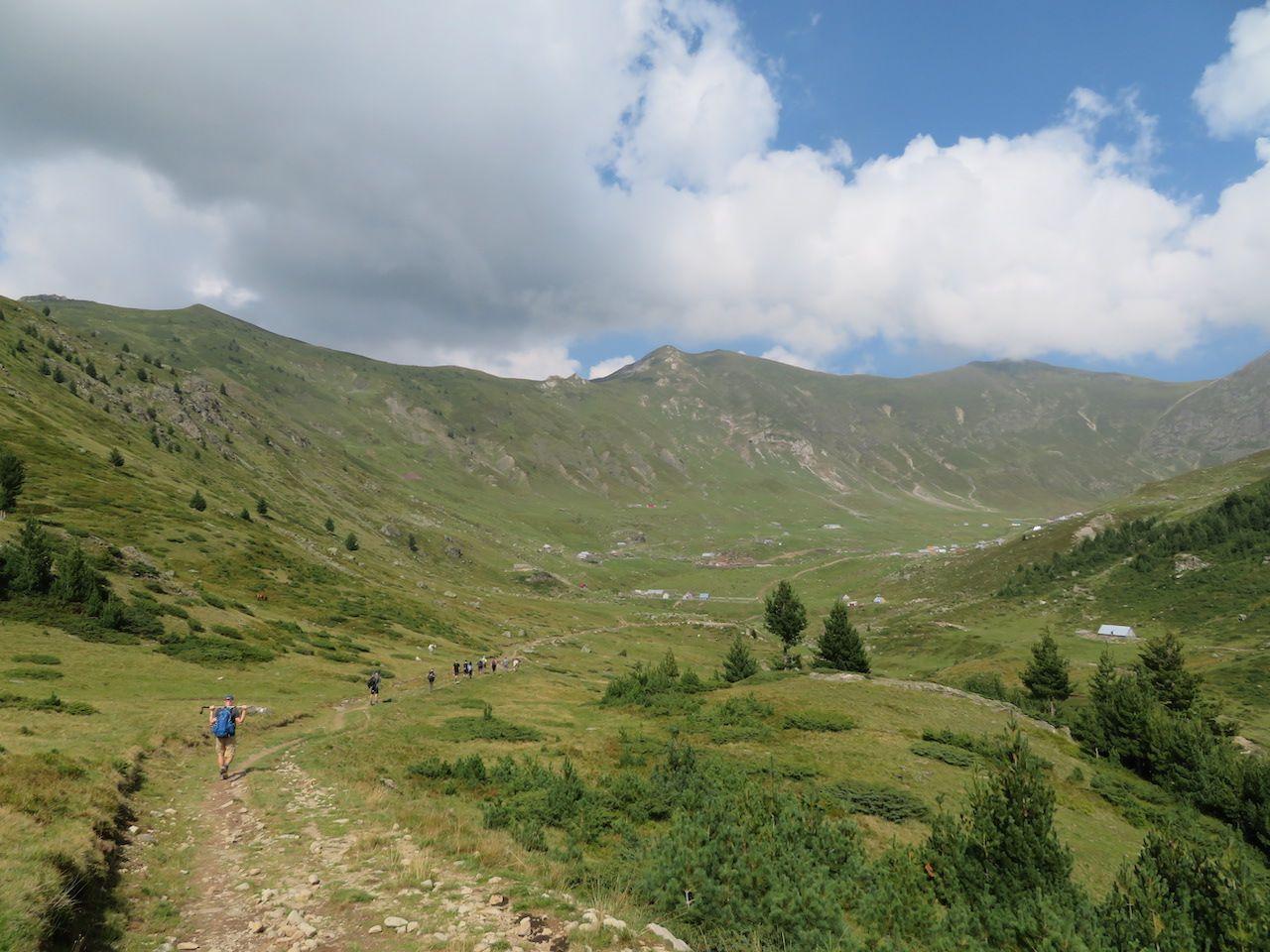 The village of Doberdol in the distance