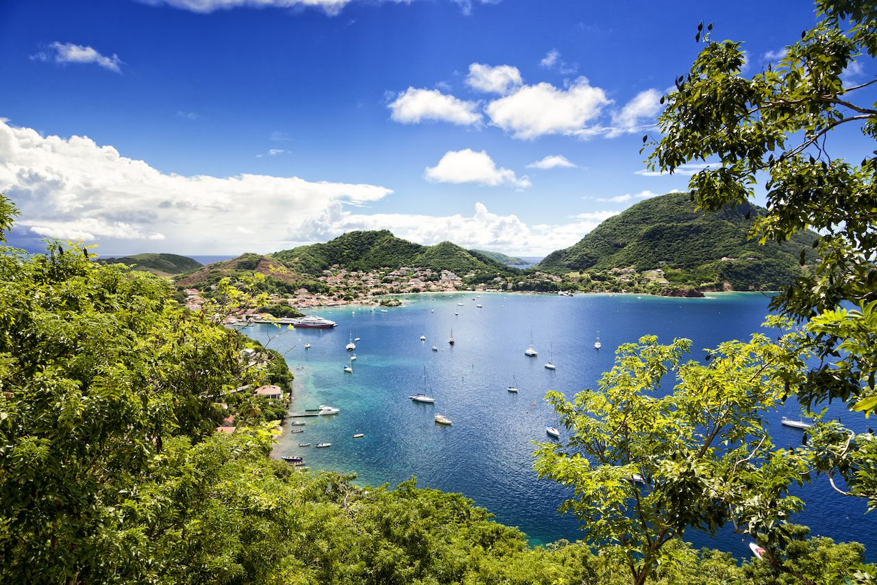 Town and bay of Terre-de-Haut, capital of Les Saintes islands, Guadeloupe