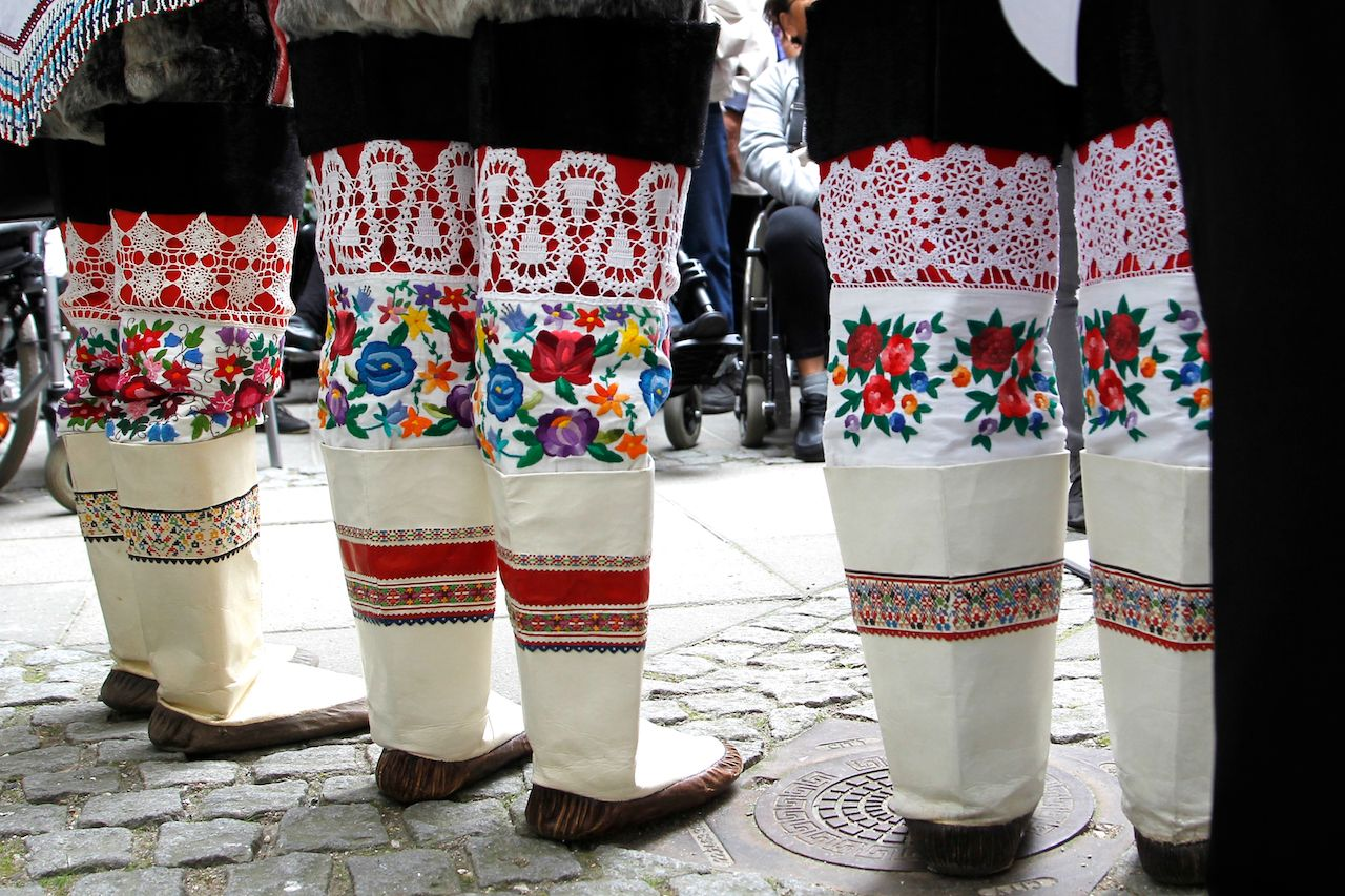 Traditional boots in Greenland