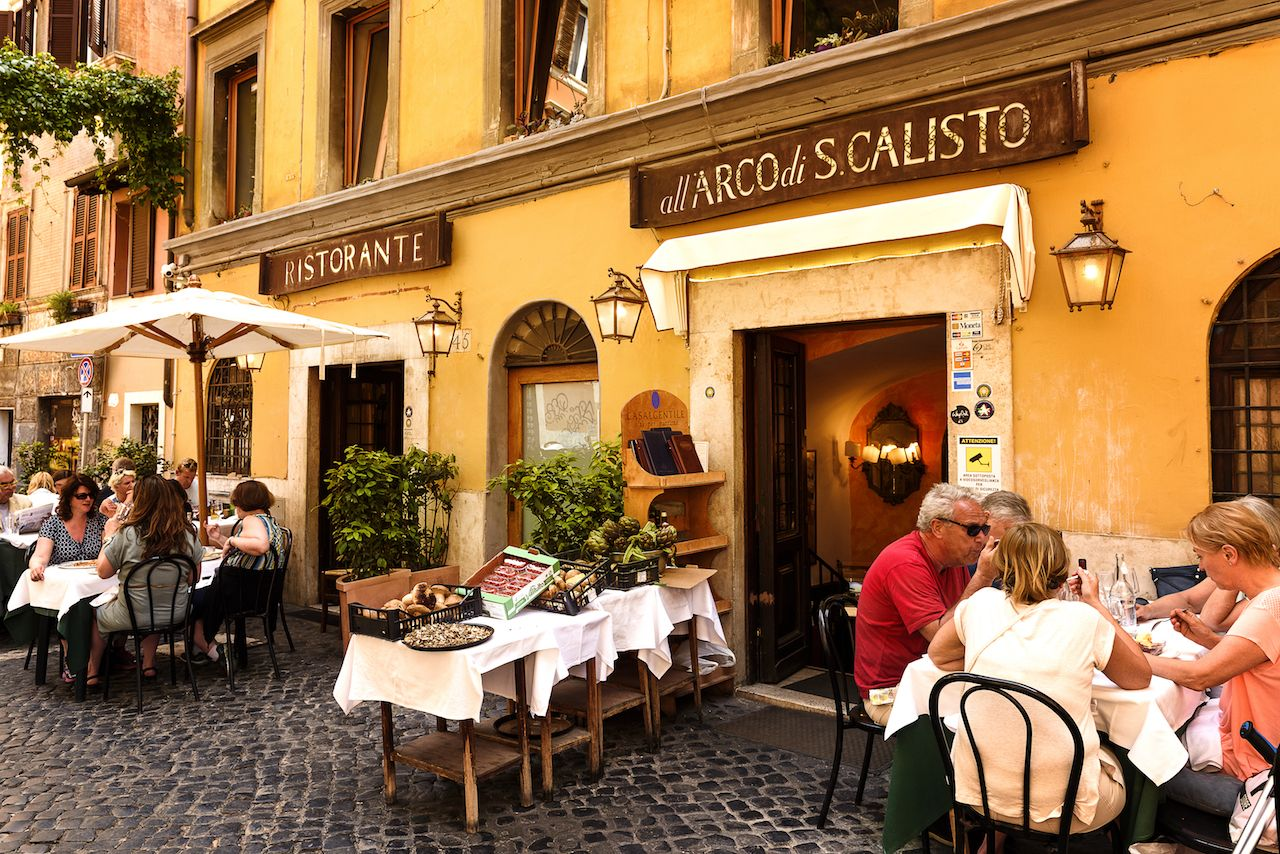 Trastevere district in Rome, Italy