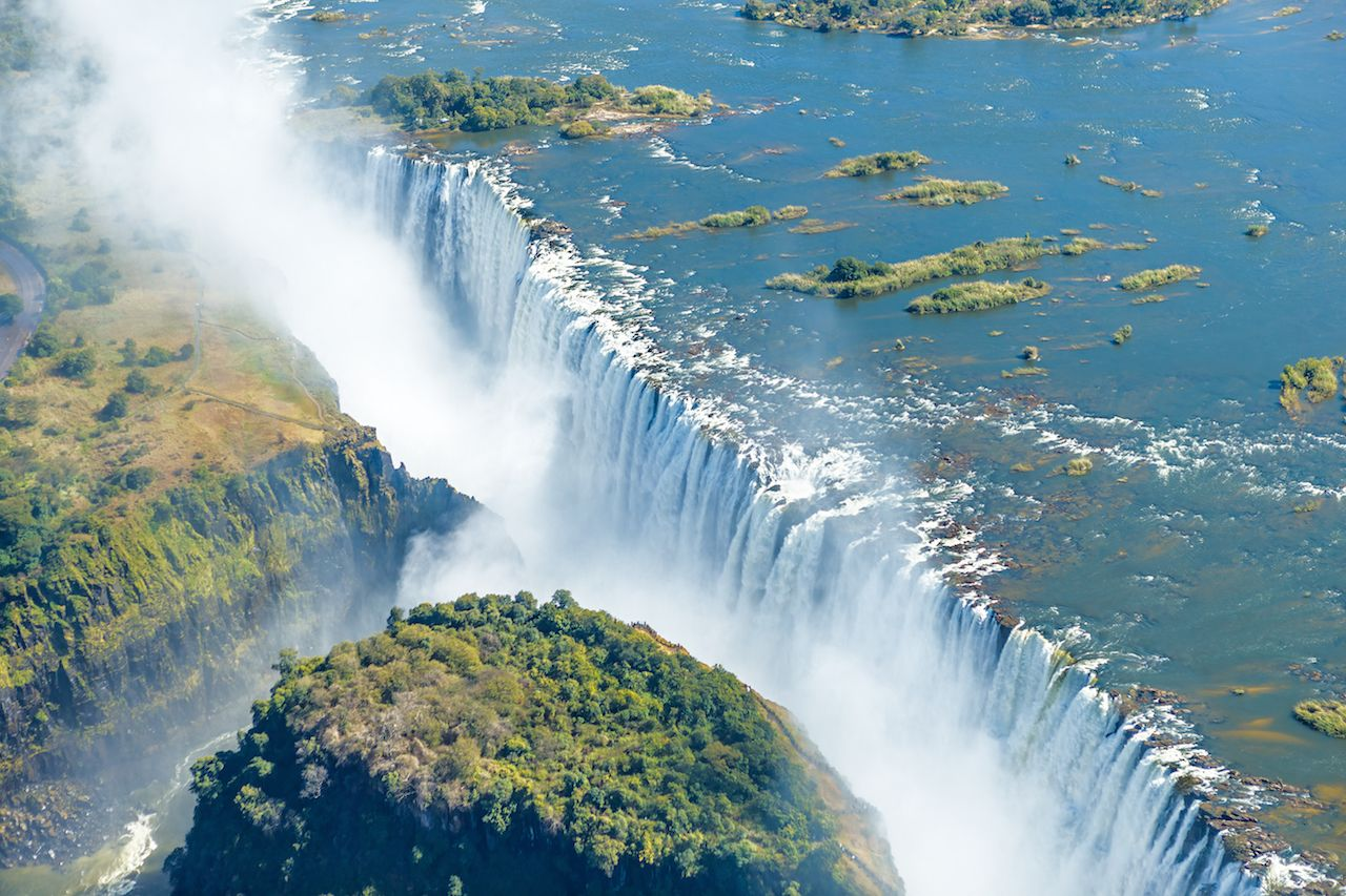 Victoria falls is the largest in the world
