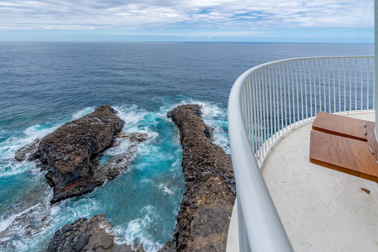View from the Canary Islands lighthouse hotel
