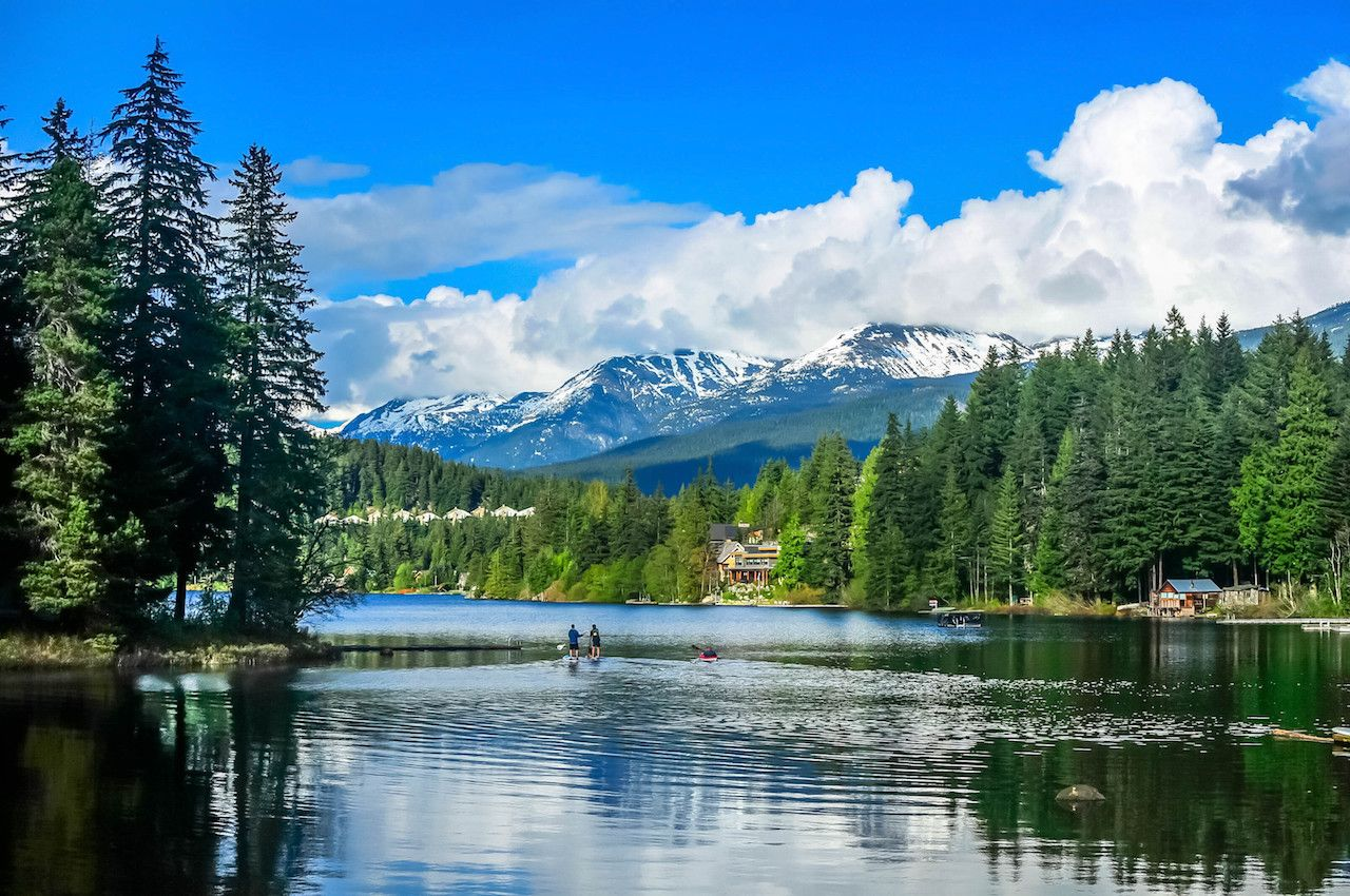 View of the Lake Alta in Whistler, BC, Canada