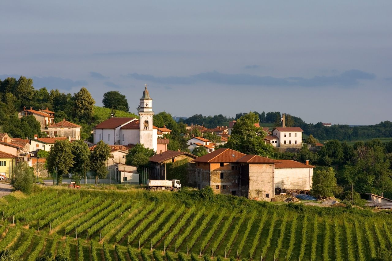 Village of Kojsko in one of the most pupular wine regions in Slovenia