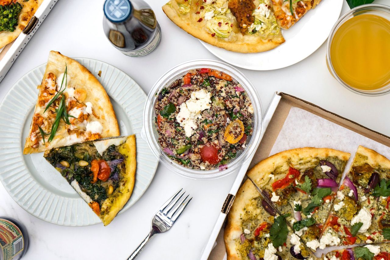 Virtuous Pie in Vancouver pizza and menu items