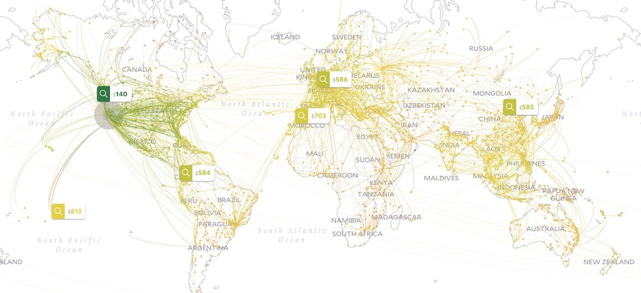 MIT developed a new map that is the only cheap flight search tool you'll ever need