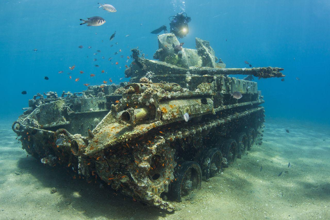 underwater tank in Aqaba Jordan