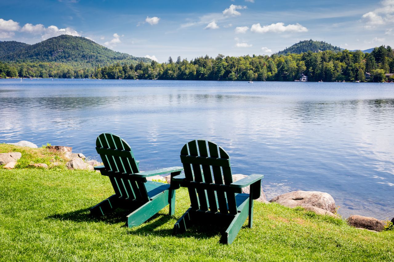 Adirondack trails on Lake Placid