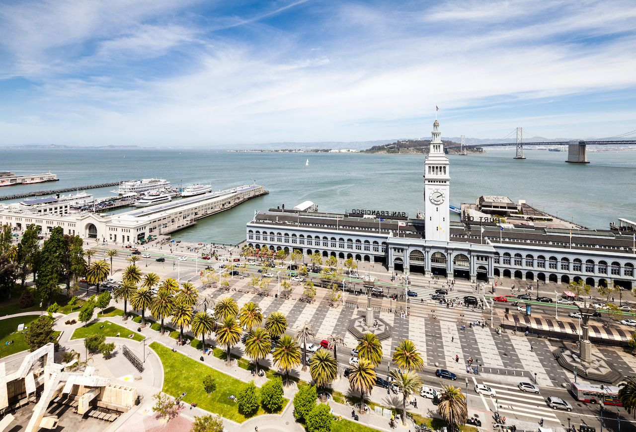 Aerial view on port of San Francisco