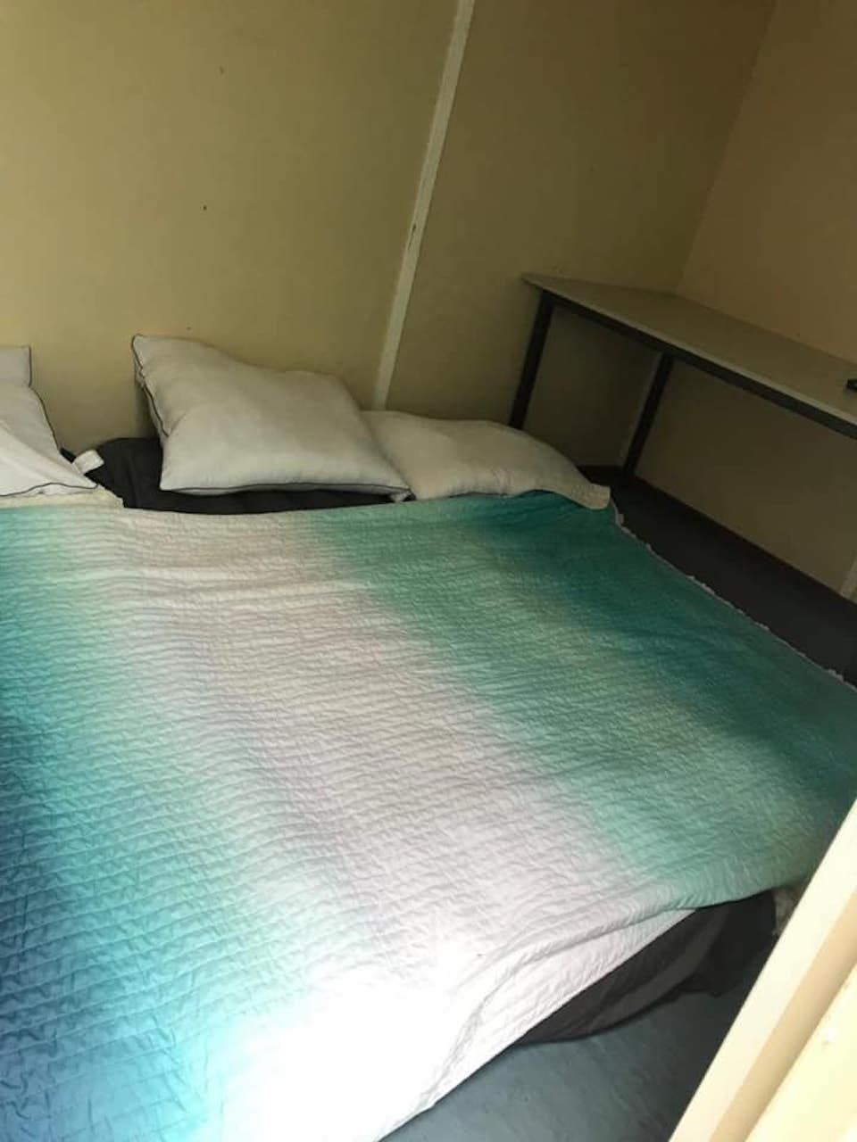 Airbnb scam, view of the makeshift bed