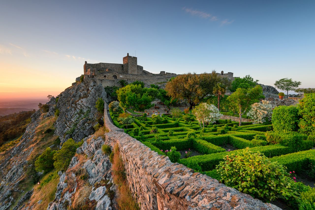 Amazing Sunset at Castle Marvao, a small picturesque village in the Alentejo