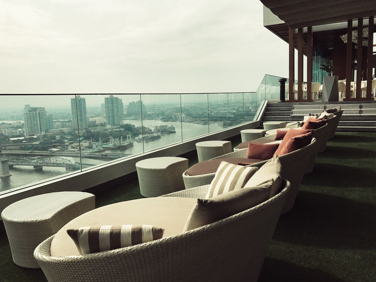 Avani Riverside Bangkok hotel rooftop panorama