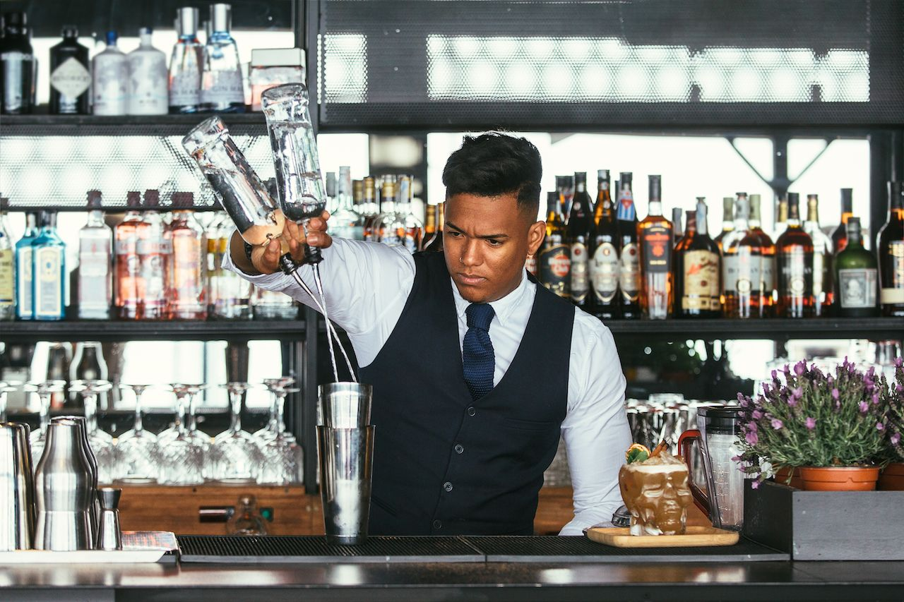 The habits you pick up bartending