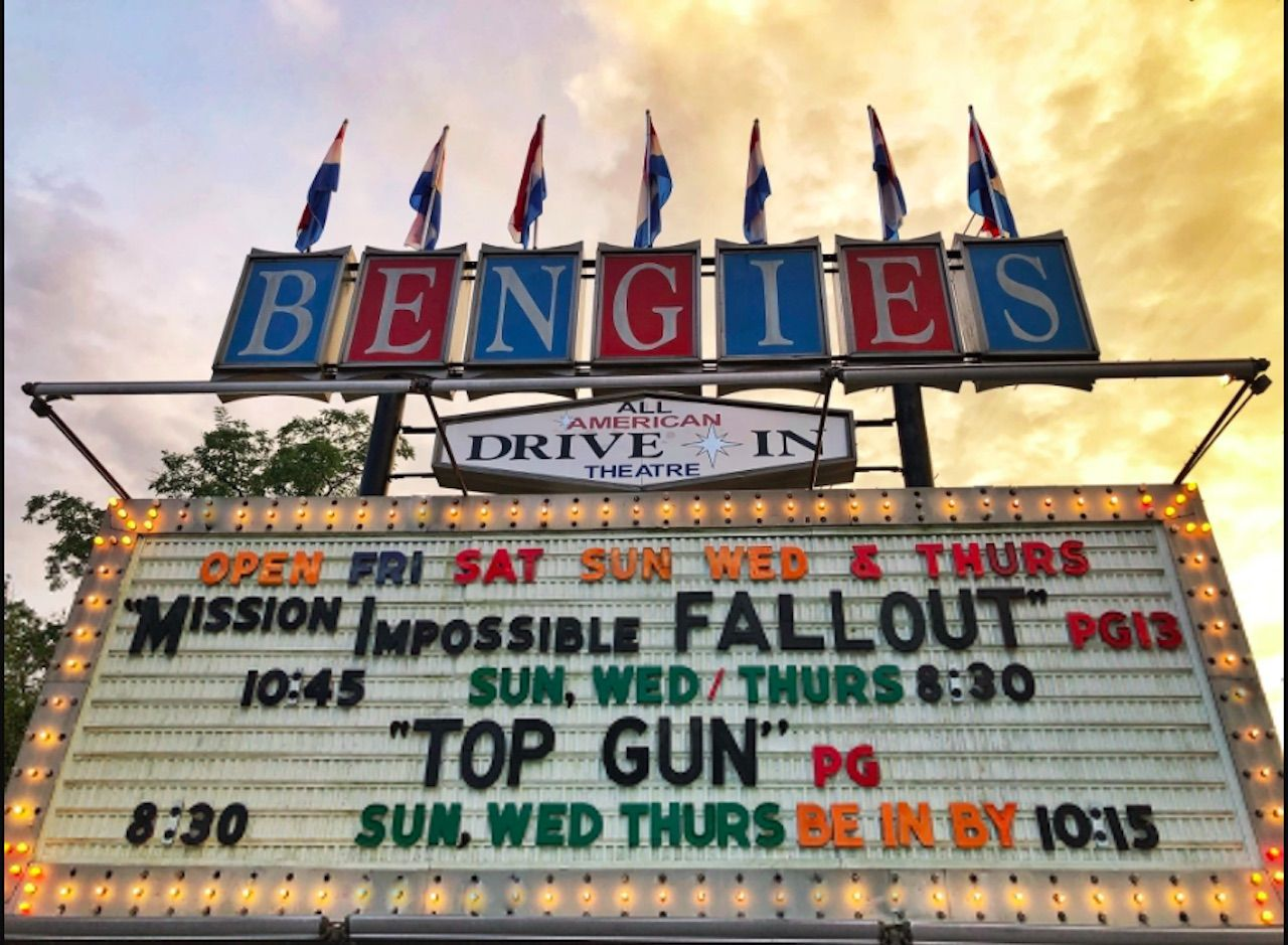 Bengies drive-in movie theater