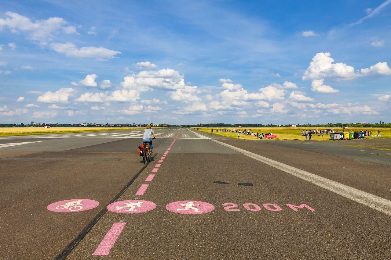 Berlin Tempelhof, forming airport in Berlin city, Germany.