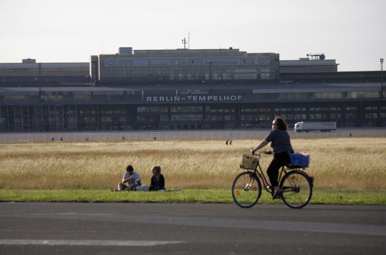 Berlin-Tempelhof which has been redesigned as a public park, Berlin