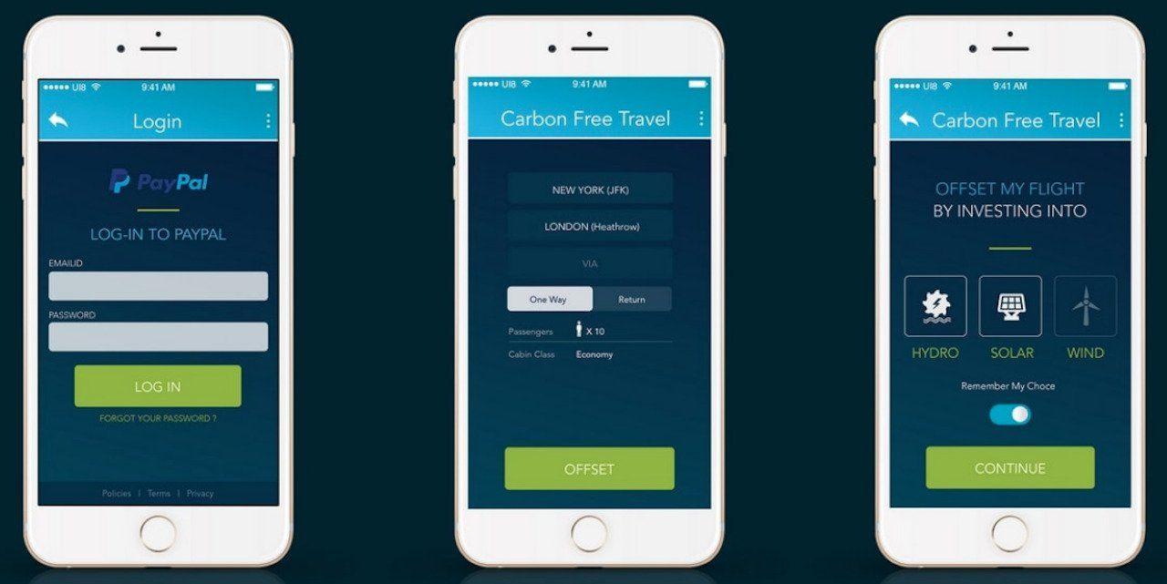 CarbonFreeTravel app