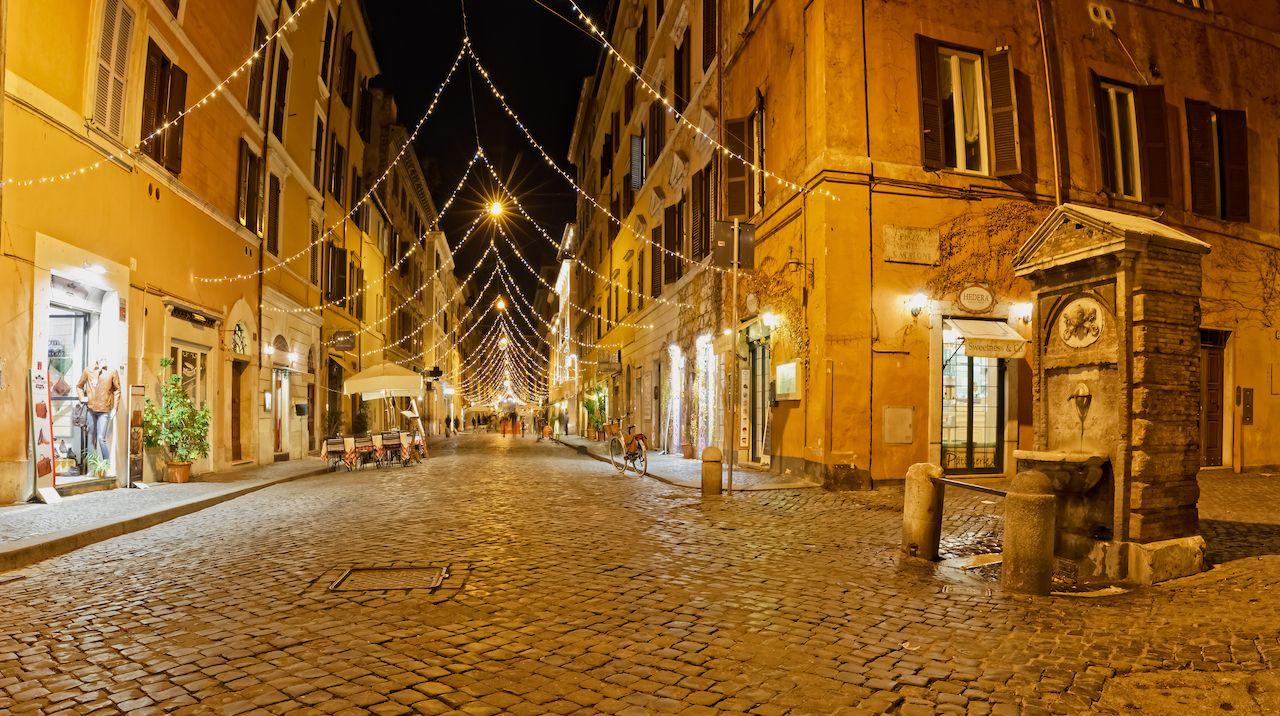 Catalone square on Borgo Pio street in Rome